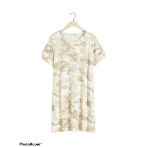 Sanctuary Camo Print T-shirt Dress Size 1X A10